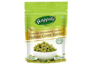 Apply Coupon - Flat 50% off on Happilo Premium 100% Natural Afghani Green Raisins, 200g (Pack of 2) at Rs. 209