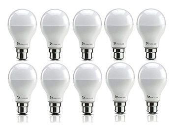 Flat 79% off on Syska SSK-SRL Base B22 9-Watt LED Bulb (Pack of 10, Cool White) at Rs. 769