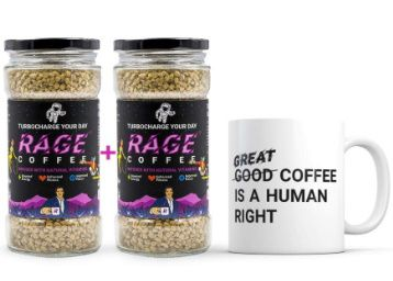 Apply Coupon - Rage Coffee - Pack of 2 & Free Coffee Mug | Premium Arabica Instant Coffee 100 GMS Crystals Infused with Natural Vitamins at Rs. 948