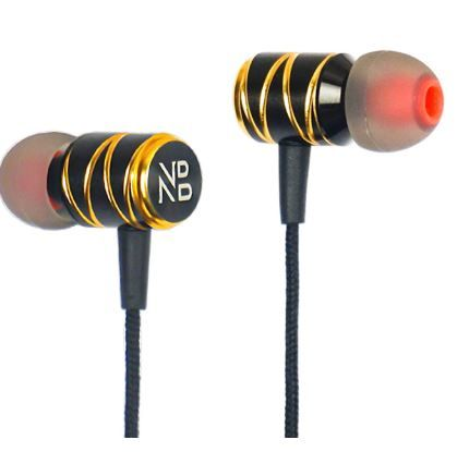 Noizzy Box Go Series Extra bass in-Ear Metallic Headphones with mic (Black and Gold) at Rs. 299