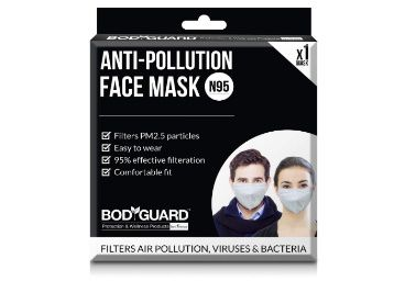 BodyGuard Dust and Anti Pollution Face Mask with N95 + PM2.5 for Men and Women - Medium at Rs. 299
