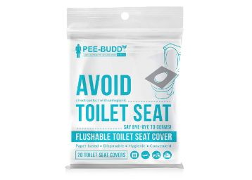 PeeBuddy Flushable and Disposable Paper Toilet Seat Covers to Avoid Direct Contact with Unhygienic Seats - 20 Seat Covers at Rs. 135