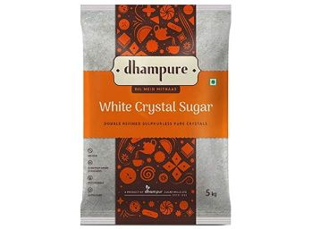 Flat 30% off on Dhampure White Crystal Sugar 5kg at Rs. 219