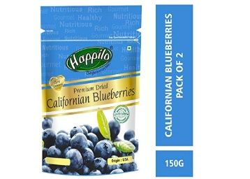 Happilo Premium Dried Californian Blueberries, 150g (Pack of 2) At Rs.679