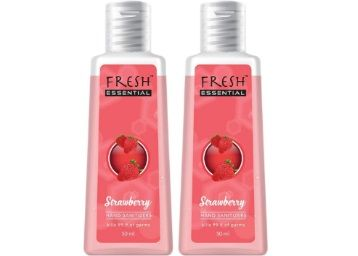 Fresh Essential Hand Sanitizer - Strawberry, 50 ml (Pack of 2) At Rs.50