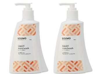 Amazon Brand - Solimo Antibacterial Handwash Liquid - 250 ml (Pack of 2) At Rs.145