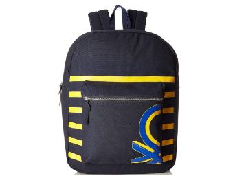 Flat 76% off on United Colors of Benetton Navy Blue Casual Backpack at Rs. 731
