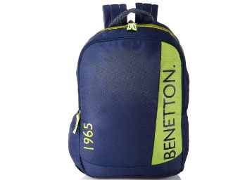 Flat 74% off on United Colors of Benetton 22 Ltrs Blue Casual Backpack at Rs. 549