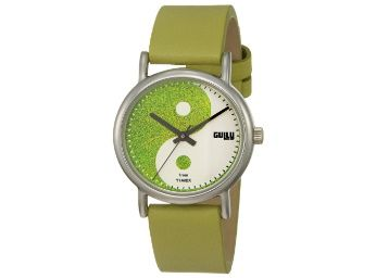 Flat 51% off on Gully by Timex Dope Analog Green Dial Women