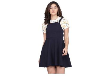 J B Fashion J B Women Printed Dress with Half Sleeves for Office At Just Rs.545