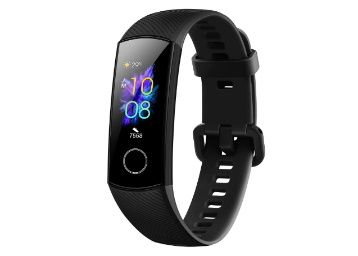 HONOR Band 5 (MeteoriteBlack)- Waterproof Full Color AMOLED Touchscreen, SpO2 (Blood Oxygen), Music Control, Watch Faces Store, up to 14 Day Battery Life at Rs. 2099