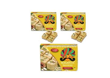 50% off - BOGATCHI Soan Papdi, Traditional Rajasthani SoanPapdi, Royal Indian Sweet for Gift on Festival, Pack of 3 x 250g at Rs. 450