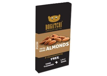 56% Off - BOGATCHI Vegan Chocolate | 70% Dark | Almonds | Gluten Free, 80 gm at Rs. 243