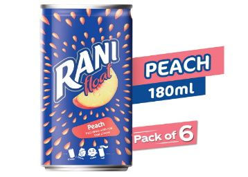 Rani Rani Peach Float Jar, 6 X 180 g at Rs. 129 + Free Shipping
