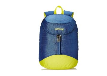 64% off - American Tourister Scamp 44 cms Blue/Yellow Casual Backpack at Rs. 499