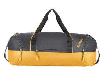 American Tourister Zeal Polyester 53 cms Yellow/Grey Gym Duffle Bag at Rs. 999