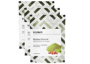 5% Coupon Off - Solimo Amazon Brand - Solimo Herbal Henna, 200g (Pack of 3) at Rs.