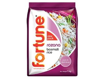 50% off - Fortune Rozana Basmati Rice, 1kg at Rs. 65