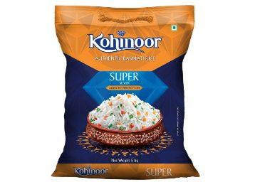 Flat 40% off on Kohinoor Super Silver Authentic Basmati Rice, 5 Kg Pack at Rs. 599