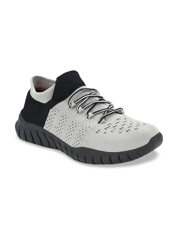 MENGLER Men Grey Textile Walking Shoes