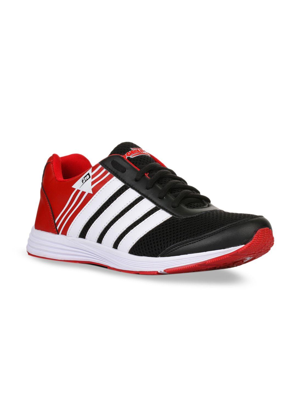 Liberty Men Red & Black Colourblocked Running Shoes