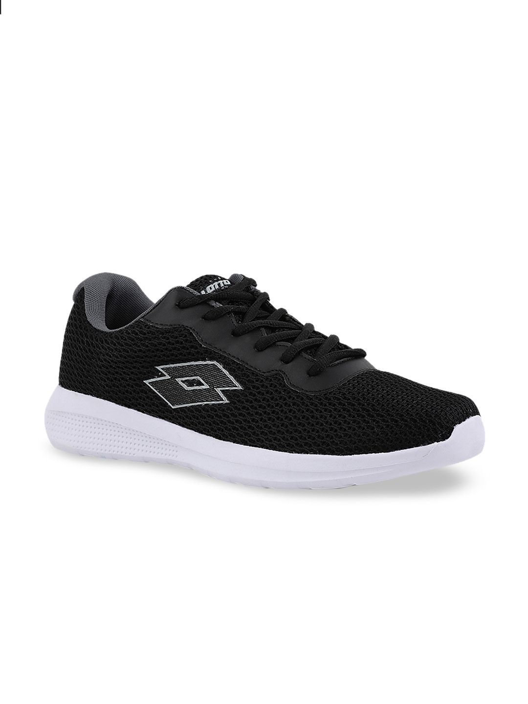 Lotto Men Black SCONTO Mesh Walking Shoes