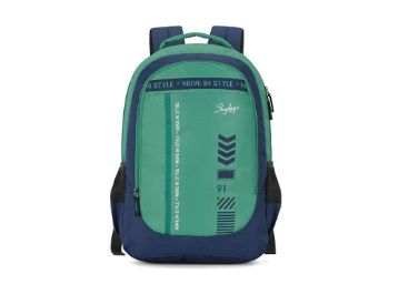 Skybags Beatle 02 27 Ltrs Green-Blue Casual Backpack At Just Rs. 727