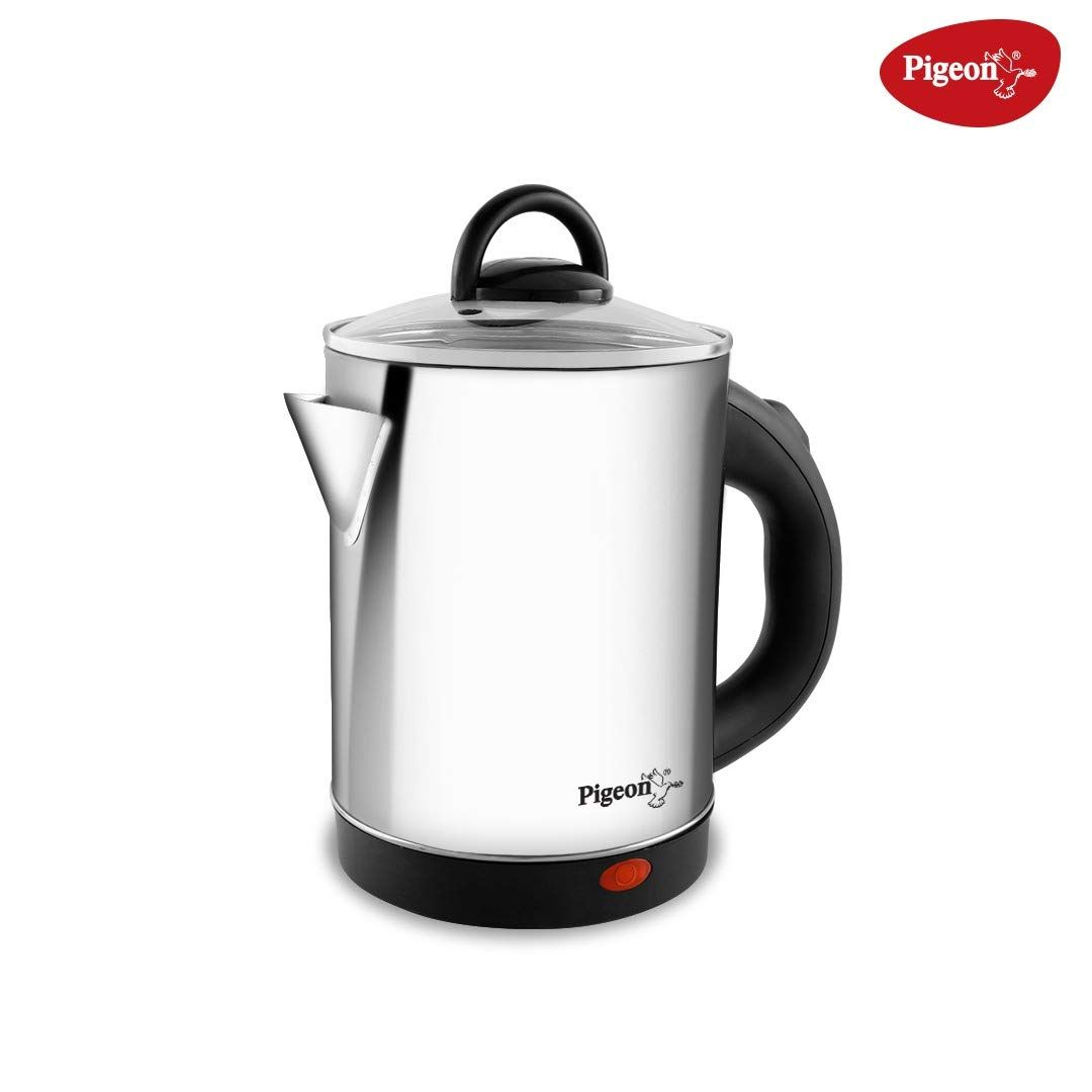Pigeon by Stovekraft Quartz Electric Kettle with Stainless Steel Body, 1.7 litres with 1500 Watt