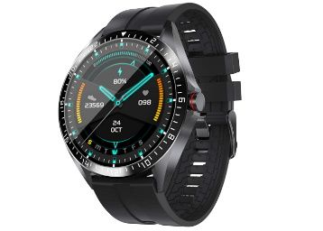 Activfit Xtreme Smartwatch/Fitness Watch with in Built Thermometer and Always on Display (Black) at Rs. 3499