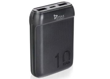 Syska 10000 mAh Li-Polymer P1016B Power Pocket100 Power Bank at Just Rs.