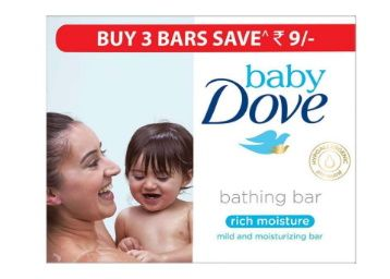 Baby Dove Rich Moisture Bar, 75g (Pack of 3) at Rs. 103
