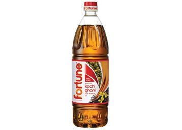 Fortune Kachi Ghani Pure Mustard Oil, 1L (Pet Bottle) at Rs. 122