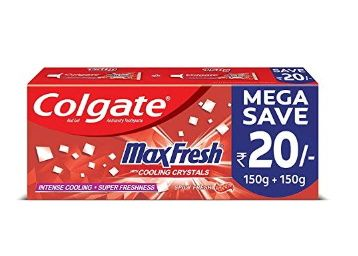Colgate Max Fresh, Spicy Fresh Red Gel Toothpaste - 300gm, Saver pack at Rs. 112