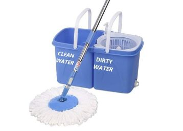 Gala Twin Bucket Spin Mop with 2 refills and 1 liquid dispenser