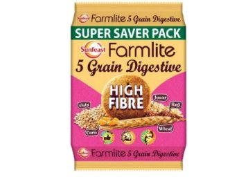 Sunfeast Farmlite Digestive High Fibre Biscuits, 1kg at Rs. 109