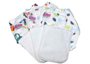 Baby Bucket Washable Adjustable Cloth Diapers with Microfiber Pads/Inserts at Rs.