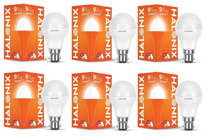 Halonix Astron Plus B22 9-Watt LED Led Bulb (Pack of 6, Cool White) at Rs. 429