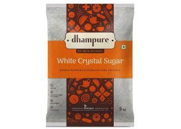 Dhampure White Crystal Sugar, 5kg at Rs. 219