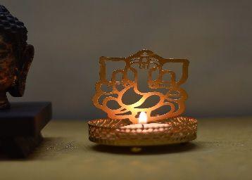 Ganesh Ji Metal Tea Light Holder