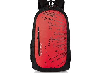 Amazon Brand - Solimo Laptop Backpack for 15.6-inch Laptops (29 litres, Red)