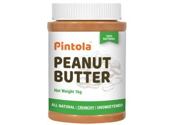 Pintola All Natural Peanut Butter (Crunchy) (1 kg) (Unsweetened, Non-GMO, Gluten Free, Vegan) at Rs. 351