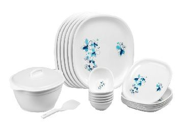 Signoraware Design-4 Round Dinner Set, 21-Pieces, White