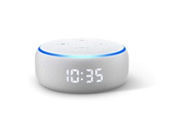 Echo Dot (3rd Gen) with clock - Smart speaker with Alexa and LED display (White) at Rs. 2749