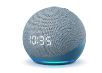 All-new Echo Dot (4th Gen) with clock | Next generation smart speaker with powerful bass, At Rs. 4249