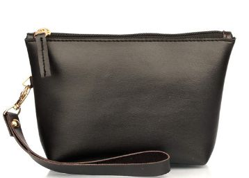 Mammon PU Makeup Bag Pouch Purse Handbag Organizer with Zipper (Mu-pouch-Black)