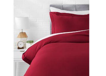 AmazonBasics Microfiber 2-Piece Quilt/Duvet/Comforter Cover Set
