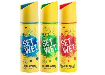 Set Wet Deodorant Spray Perfume, 150ml (Pack of 3)