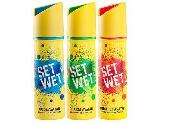 Set Wet Deodorant Spray Perfume, 150ml (Pack of 3)