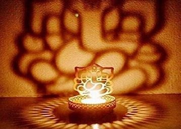 Heaven Decor Metal Shadow Divine Ganesh ji Tealight Candle Holder (10)