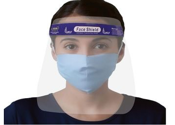 ORILEY AYURVEDA ORFSN04 175 Micron Disposable Face Shield with Adjustable Elastic Strap Anti-Splash Single Use Protective Facial Cover Transparent Full Face Visor with Eye & Head Protection (1 PC)